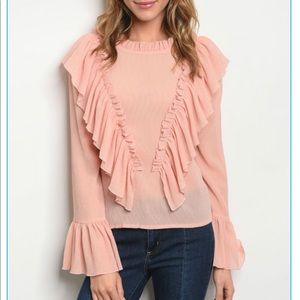 Tops - 💕💕Gorgeous Blush Ruffle Top
